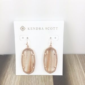 Kendra Scott Elle gold dusted rose gold earrings